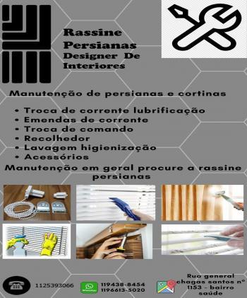 Rassine Persianas e Cortinas Design de interiores